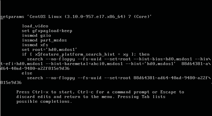 Using grub rescue commands on CentOS – Linux Hint