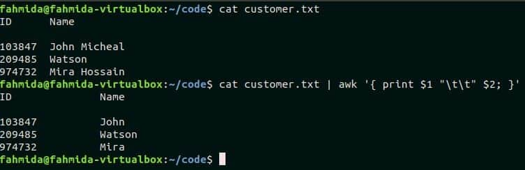 How to use variable in awk command – Linux Hint