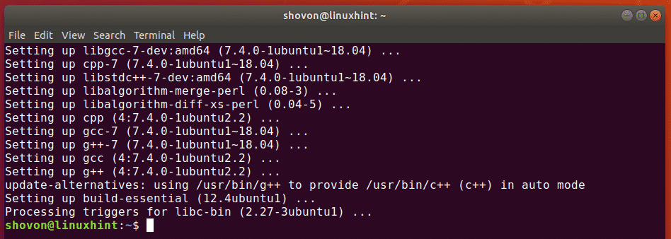 Install GCC on Ubuntu – Linux Hint