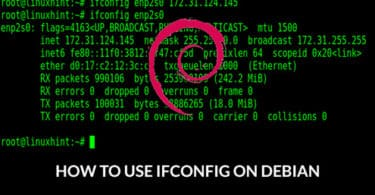 How to use IFCONFIG on Debian