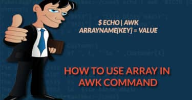 How to use array in awk command