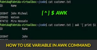 How to use variable in awk command