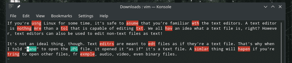 VIM Spell Check – Linux Hint