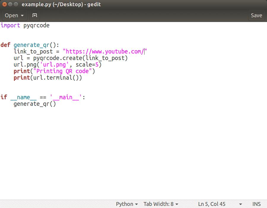 Python QR Code generator – Linux Hint