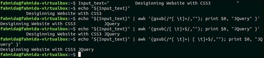 How to trim string in bash – Linux Hint