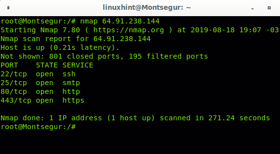 Nmap: scan IP ranges – Linux Hint