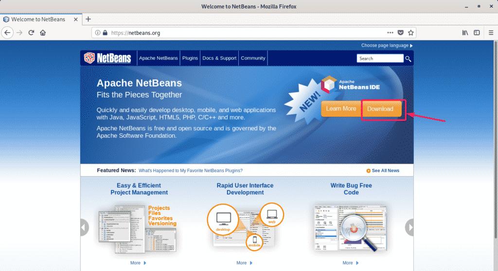 Installing NetBeans IDE on Debian 10 – Linux Hint