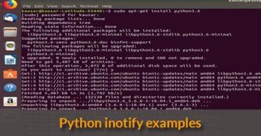 Python inotify examples