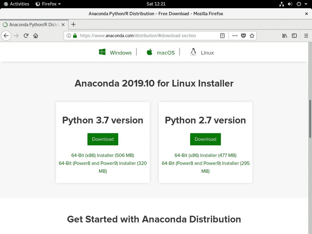 Installing Anaconda Python on CentOS 8 – Linux Hint