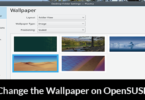 Change the Wallpaper on OpenSUSE