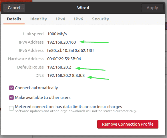Setting Up Static IP Address on Ubuntu 20.04 LTS – Linux Hint