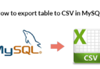 How to export table to CSV in MySQL