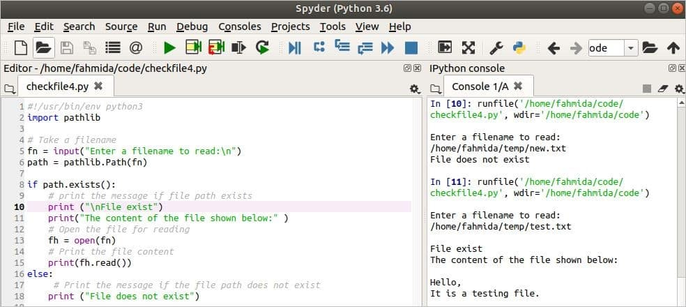 How to check a file exists in Python – Linux Hint