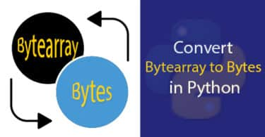 Convert Bytearray to Bytes in Python