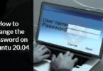 How to change the password on Ubuntu 20.04