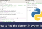 How to find the element in python list