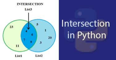 Intersection in Python