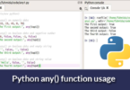 Python any() function usage