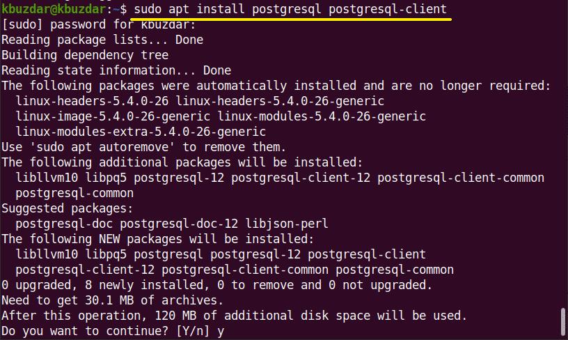 Install and get started PostgreSQL on Ubuntu 20.04
