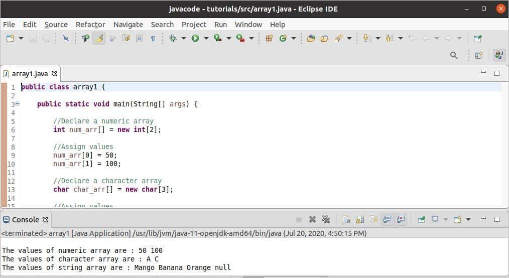 Java Array Tutorial – Linux Hint