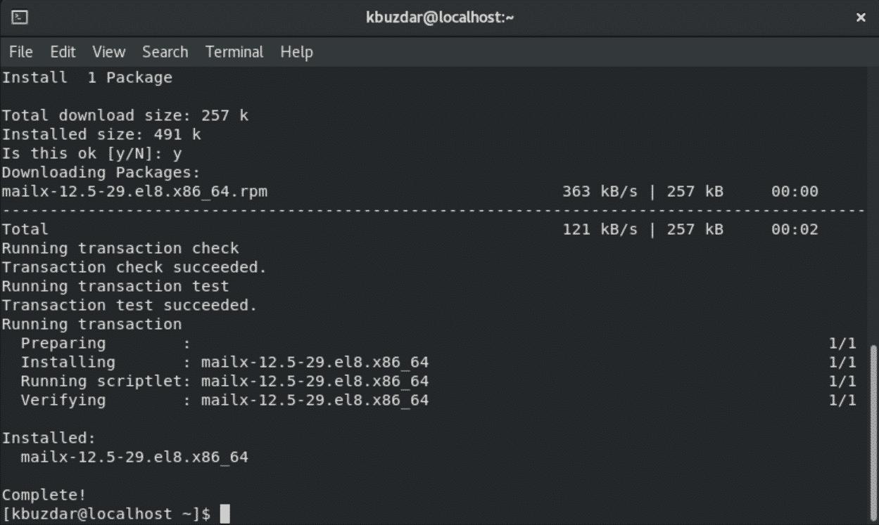 Install Postfix In Centos 8 Linux Hint