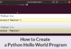How to Create a Python Hello World Program