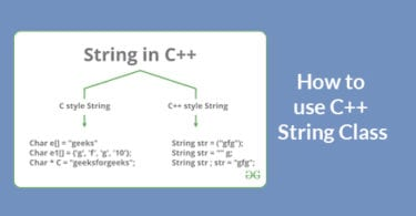 How to use C++ String Class