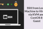 SSH from Local Machine to Virtual via KVM and CentOS 8 Guest