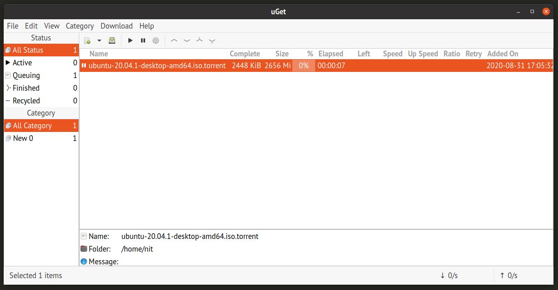 Uget torrent client screenshot | lateweb.info