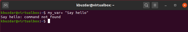 BASH - Command Not Found