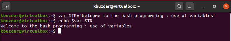 BASH - Setting the Variable Value