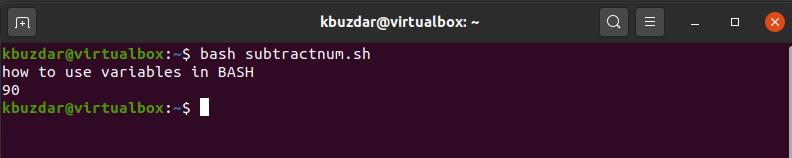 BASH - Variables in BASH Script Output