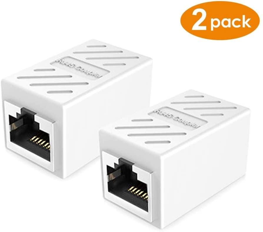 Ethernet Coupler, PLUSPOE 2 Pack Extender Adaptor Female to Female - 2 PCs