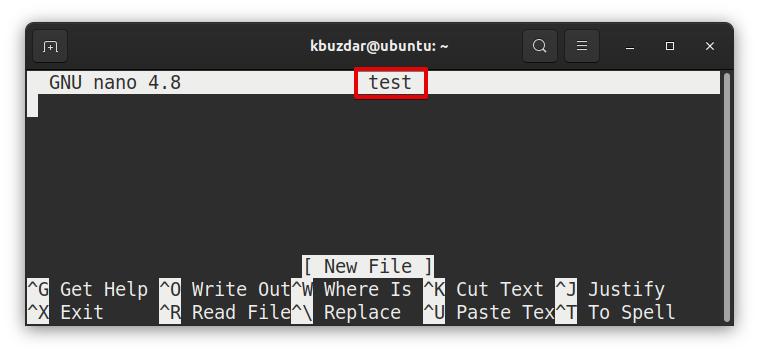 Open File in Nano Editor