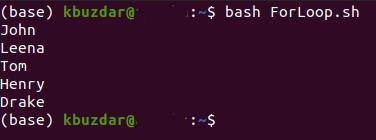 bash forloop2