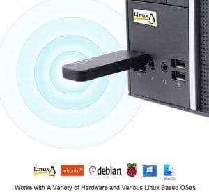 BrosTrend 1200Mbps Linux USB WiFi Adapter, Dual Band Network 5GHz/867Mbps + 2.4GHz/300Mbps, Support Ubuntu, Mint, Debian, Kali, Kubuntu, Lubuntu, Xubunt