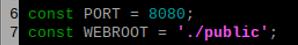 line 6 7 port webroot