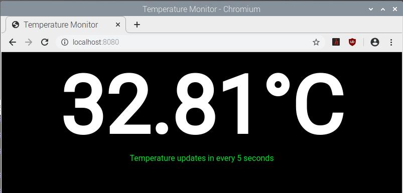 Temperature Monitor Chromium