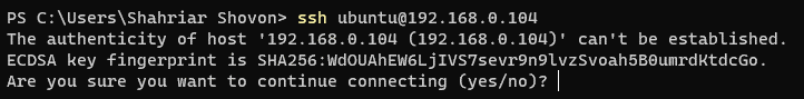 Accessing the Ubuntu Server 20.04 LTS Remotely via SSH 2