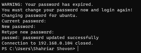 Accessing the Ubuntu Server 20.04 LTS Remotely via SSH 7