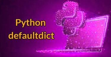 python defaultdict