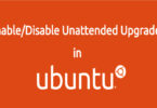 Enable Disable Unattended Upgrades in Ubuntu