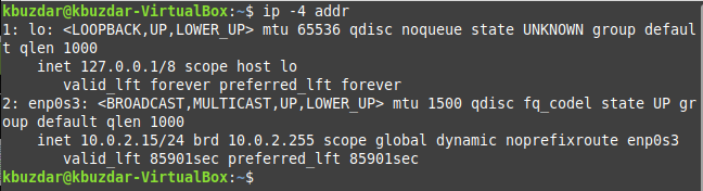 Linux List All IP Addresses on the Interface