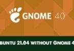 Ubuntu 21.04 without Gnome 40