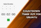 Countdown Timer App for Ubuntu