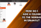 How do I add a folder to the sidebar in Ubuntu?
