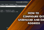How to Configure Git Username and Email Address