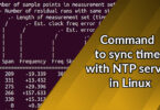 Command to sync time with NTP server in Linux