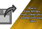 How to Copy All Files from a Directory to another Directory in Linux