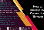 How to Increase SSH Connection Timeout